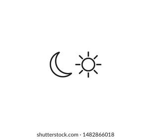 sun and moon icon vector design element logo template