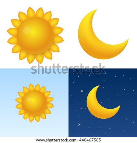 sun moon template design element vector stock vector royalty free