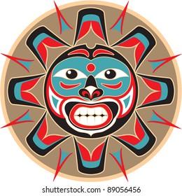 Sun - Native American Style Vector
