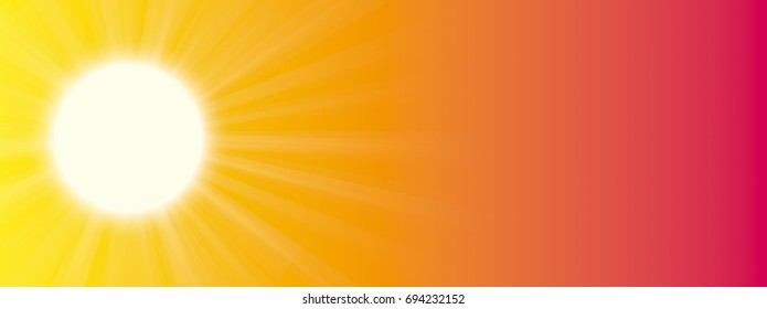 Sun on the summer sky. Eps 10 vector file.