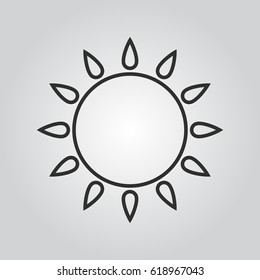 sun outline icon
