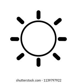 The sun picture. Black, flat illustration.