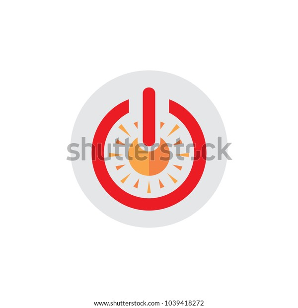 Sun Power Logo Icon Design