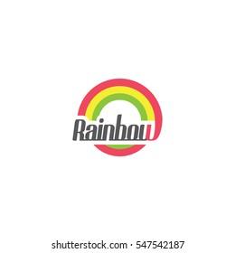 Sun Rainbow logo vector illustration