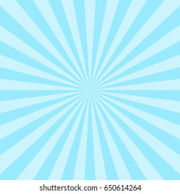 Sun ray background blue two tone colors abstract vector.