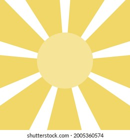 Sun rays abstract background. Vector rays on white background