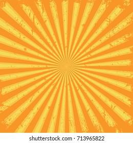 Sun rays background. Grunge design