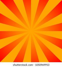 Sun rays background, vector illustration.  Sun rays pattern. Vector background sun rays with retro color. Sun rays design for web. Sunbeams background. SUNbeams Sunburst Pattern. Retro design. Red