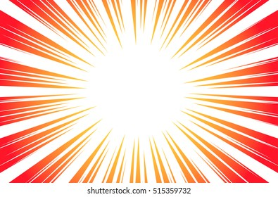 Sun Rays or Explosion Boom for Comic Books Radial Background Vector