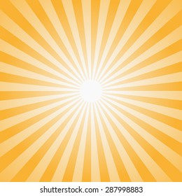 Sun rays illustration. Vector background.