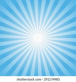 Sun rays illustration. Vector background.