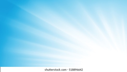 sun rays on blue sky vector background