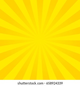 Sun rays, summer background orange colored, vector illustration