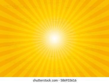 Sun rays sunburst pattern background.