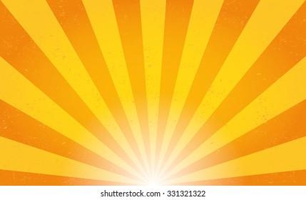 Sun rays. Vector illustration