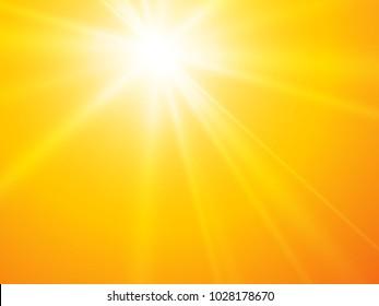 sun rays yellow vector backgroun
