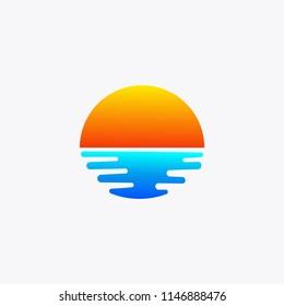 sun rise and sun set logo