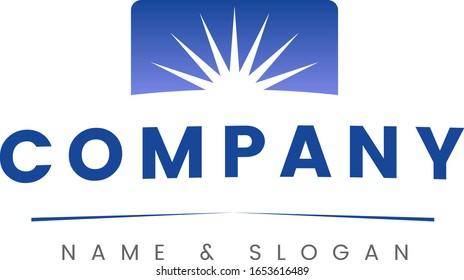Sun Rising Company Logo blue sky