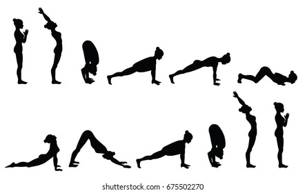 Surya Namaskar Images, Stock Photos & Vectors | Shutterstock
