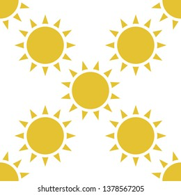 Sun seamless pattern background. For textile and fabric, cover, print on clothes. Ether sign.