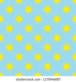 Sun Seamless Vector Pattern. / The whole image is repeatable, and smaller tiles to fill smaller areas.
