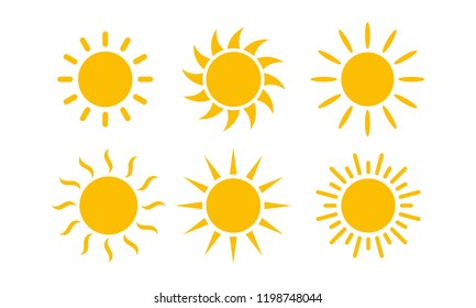 Sun Set icon vector