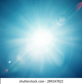 Sun shine, abstract background, eps 10