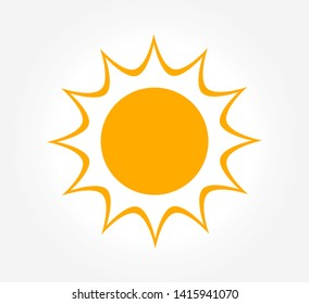 Sun shining icon. Vector illustration.