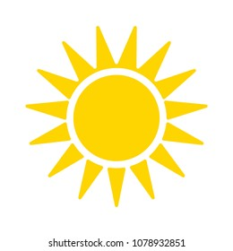 sun sign icon, vector sunlight, bright sunny