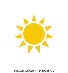 Sun sign symbol icon vector illustration