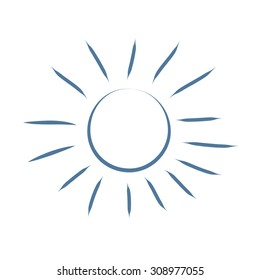 Sun sketch icon