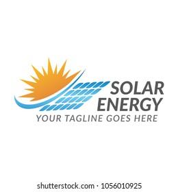 sun solar energy logo icon vector template