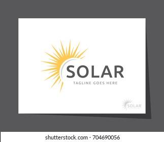 sun solar logo icon vector template