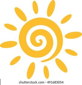 Sun with spiral