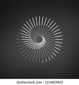 Sun spiral logo. Simple stylized symbol. vector illustration.