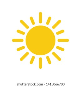 Sun Summer Icon Vector Design Illustration