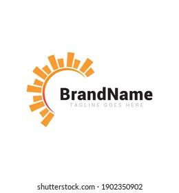 Sun summer logo icon vector template