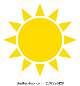 Sun and Sunshine vector on a white isolated background