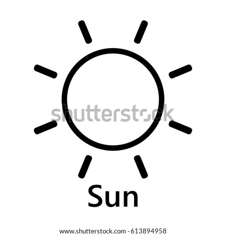 Sun Symbol Rotate Black Text On Stock Vector Royalty Free