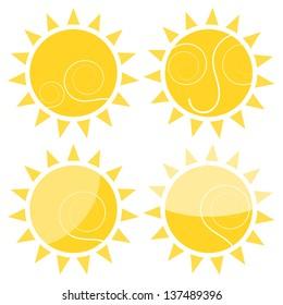 Sun symbol sign in the summer concept illustration