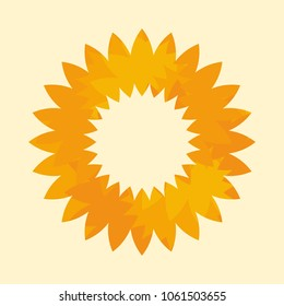 sun symbol. sunflower logo vector.