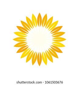 sun symbol. sunflower logo vector.