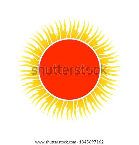56bbc05b6cb6d Sun Symbol Vector Tribal Art Red Stock Vector (Royalty Free ...