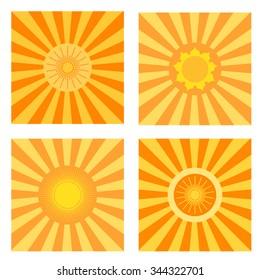 Sun symbols set.
