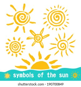 Sun symbols for your design.