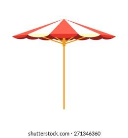 Sun umbrella beach accessory. Isolated icon pictogram. Eps 10 vector illustration.