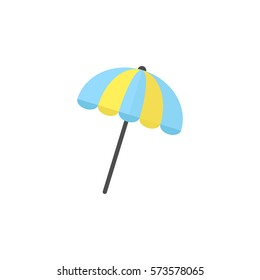 Sun umbrella flat icon, travel & tourism, parasol, a colorful solid pattern on a white background, eps 10.
