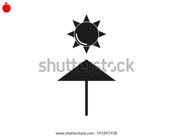 sun umbrella, icon, vector illustration eps10