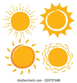 sun in various shape