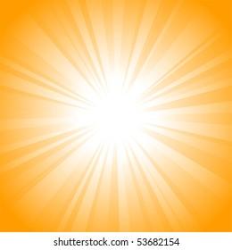 Sun vector background